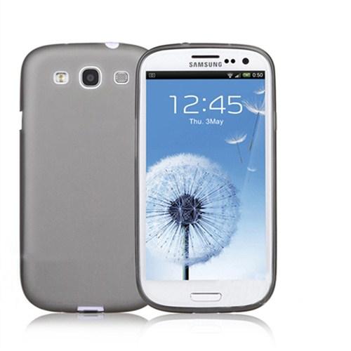 Mycolors Samsung Galaxy S3 Mini Siyah İnce Silikon Arka Kapak - MYC-0079