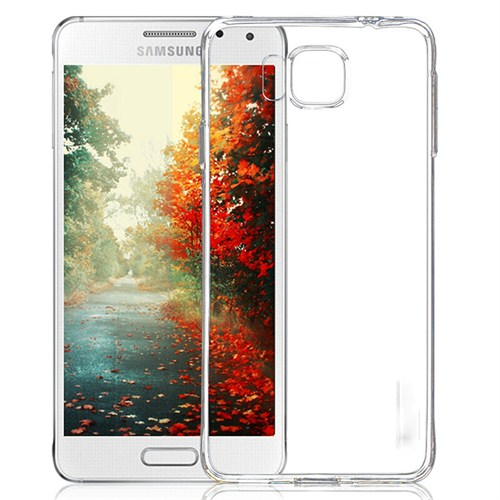 Mycolors Samsung Galaxy Alpha Şeffaf İnce Silikon Arka Kapak - MYC-0112