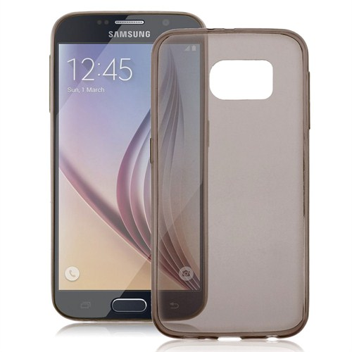 Case 4U Samsung Galaxy S6 Edge Ultra İnce Füme Silikon Kılıf