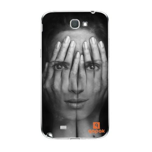 Qapak Samsung Galaxy Note 2 Baskılı İnce Kapak uz244434010351