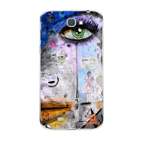Qapak Samsung Galaxy Note 2 Baskılı İnce Kapak uz244434010378