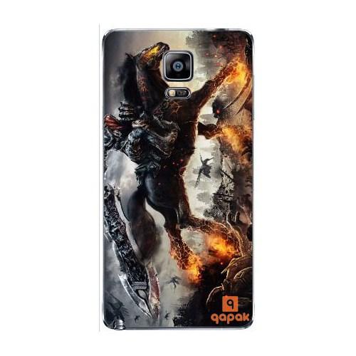 Qapak Samsung Galaxy Note 4 Baskılı İnce Kapak uz244434010484