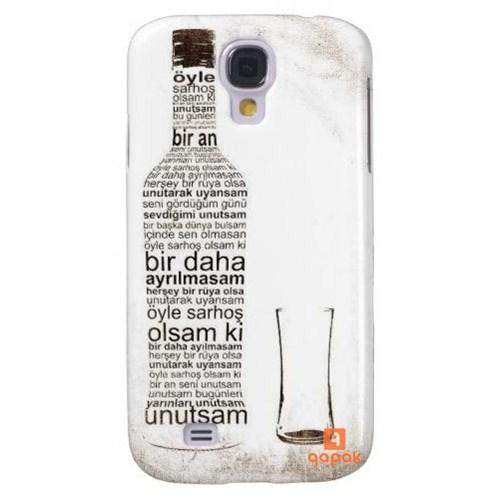 Qapak Samsung Galaxy S4 Baskılı İnce Kapak uz244434010534