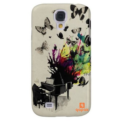 Qapak Samsung Galaxy S4 Baskılı İnce Kapak uz244434010575
