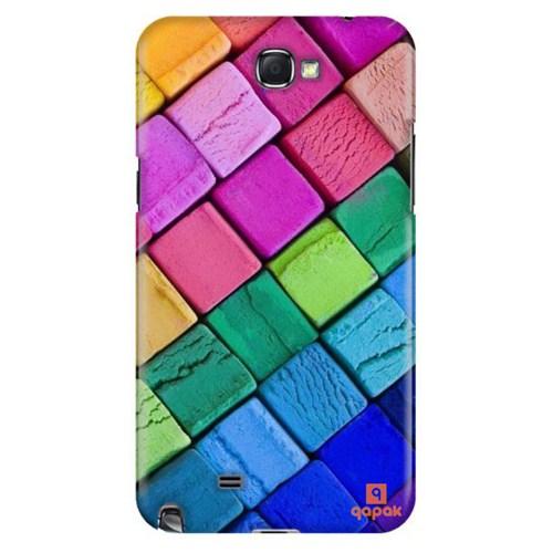 Qapak Samsung Galaxy Note 2 Baskılı İnce Kapak uz244434011090