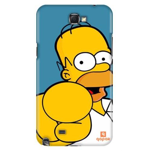 Qapak Samsung Galaxy Note 2 Baskılı İnce Kapak uz244434011129