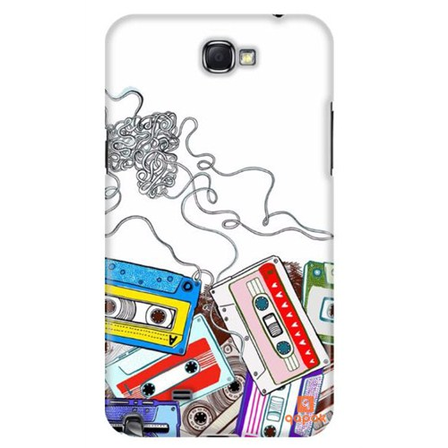 Qapak Samsung Galaxy Note 2 Baskılı İnce Kapak uz244434011134