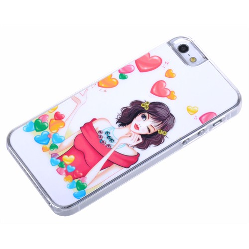 Qapak Taşlı Kapak iPhone 5/5s Renkli uz244434003035