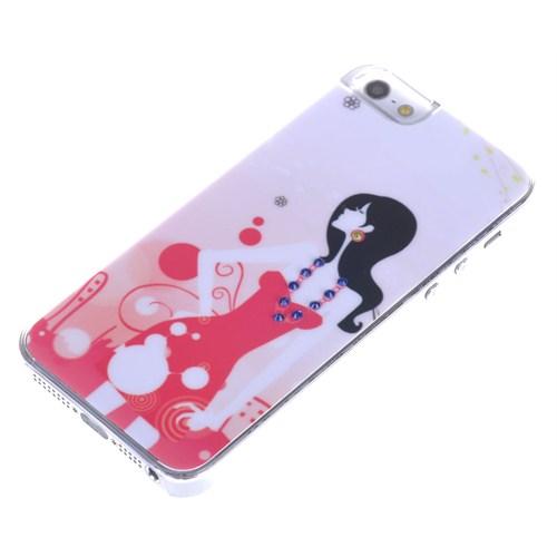 Qapak Taşlı Kapak iPhone 5/5s Renkli uz244434003062