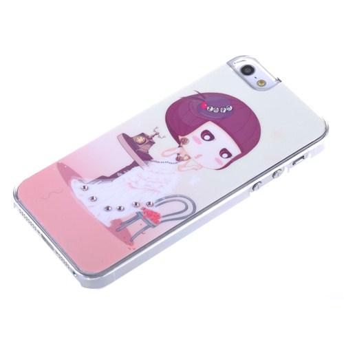 Qapak Taşlı Kapak iPhone 5/5s Renkli uz244434003093