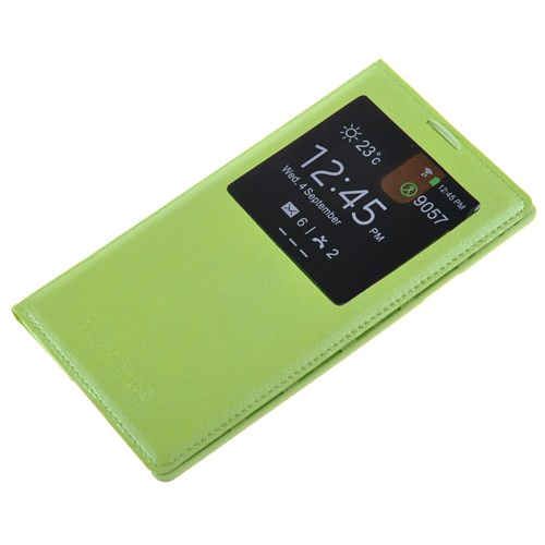 Qapak Samsung Galaxy Note 3 Pencereli Flipcover Kılıf Yeşil uz244434003524