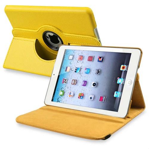 Qapaq İpad Mini 360 Derece Dönebilir Kılıf Sarıuz244434003985