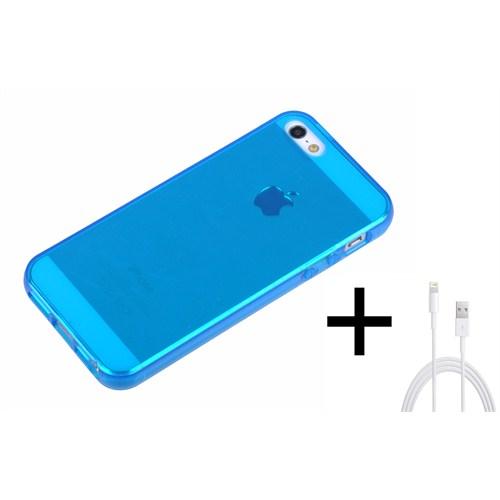 Qapak Silikon Kapak iPhone 5/5s Mavi uz244434007510