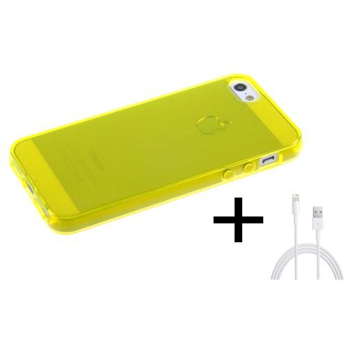 Qapak Silikon Kapak iPhone 5/5s Sarı uz244434007512