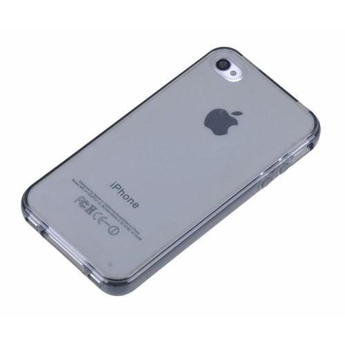Qapak Silikon Kapak iPhone 4/4s Gri uz244434007516