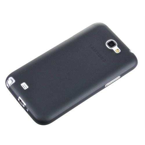 Qapak Samsung Galaxy Note 2 0,2Mm Şeffaf Kapak Siyah uz244434007549