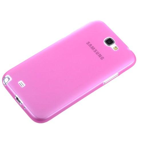 Qapak Samsung Galaxy Note 2 0,2Mm Şeffaf Kapak Pembe uz244434007550