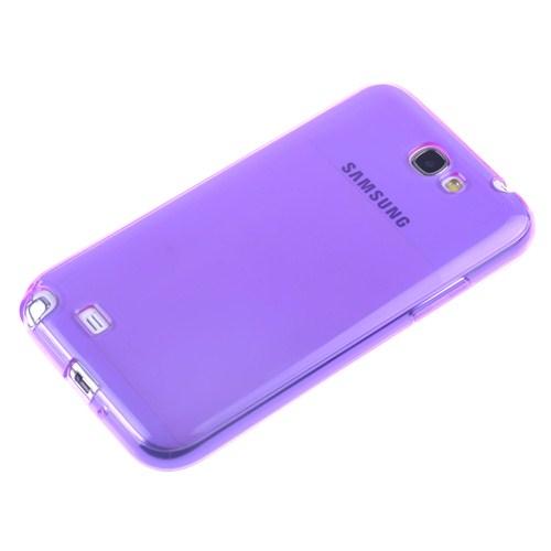 Qapak Samsung Galaxy Note 2 Silikon Kapak Mor uz244434007556