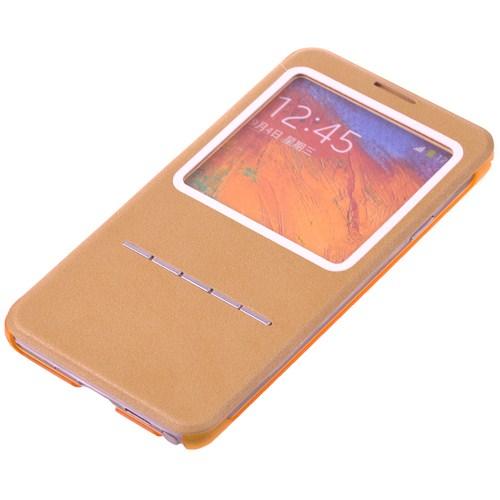 Qapak Samsung Note 3 Tuşlu Korumalı Kılıf Sarı uz244434009258