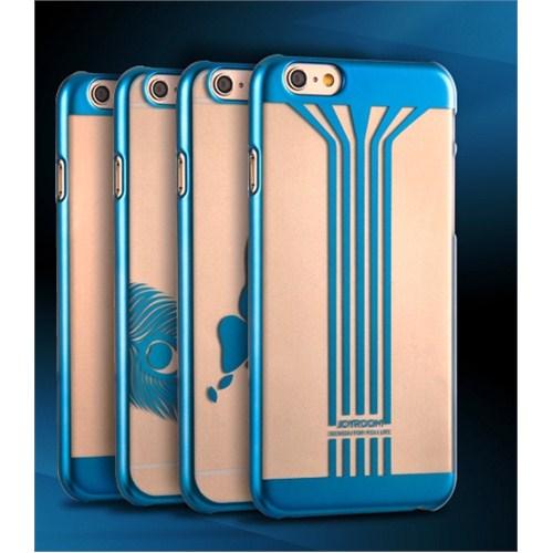Qapak iPhone 6 Jayroom Çizgili Koruma Kapak Mavi uz244434009375
