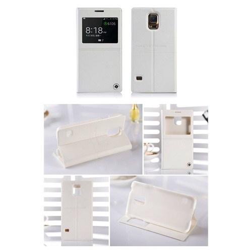 Qapak Samsung Galaxy Note 3 Jayroom Pencereli Flipcover Style Beyaz Kılıf uz244434009393