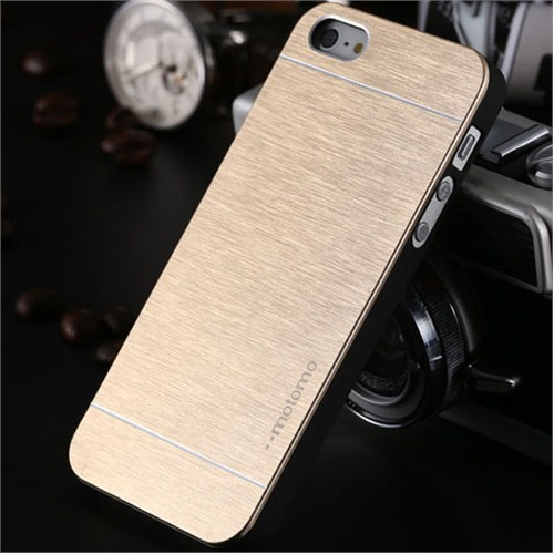 Qapak Apple iPhone 6 Motomo Metal Kapak Gold uz244434009458