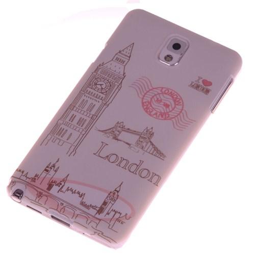 Qapak Samsung Note 3 Kabartma Desenli İnce Arka Kapak uz244434009531