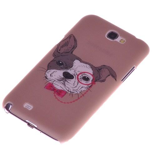Qapak Samsung Note 2 Kabartma Desenli İnce Arka Kapak uz244434009534
