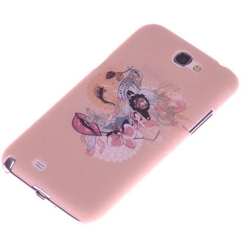 Qapak Samsung Note 2 Kabartma Desenli İnce Arka Kapak uz244434009537