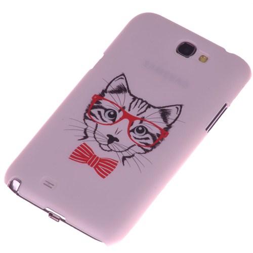 Qapak Samsung Note 2 Kabartma Desenli İnce Arka Kapak uz244434009542