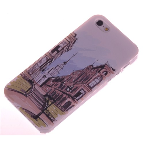 Qapak iPhone 5 Kabartma Desenli İnce Arka Kapak uz244434009554