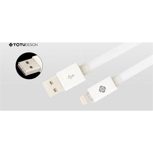 Qapaq Totu Design İphone/İpad/İpod Data Şarj Kablosu Beyazuz244434009616