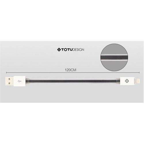 Qapaq Totu Design İphone/İpad/İpod Data Şarj Kablosu Siyahuz244434009617