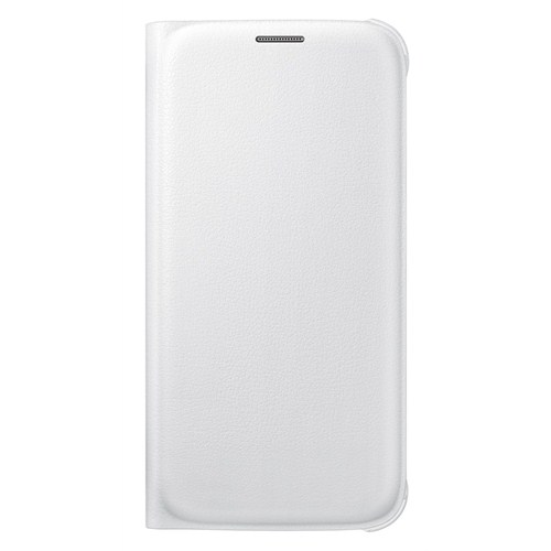Samsung Galaxy S6 Flip Wallet Cover Beyaz Kılıf - EF-WG920PWEGWW