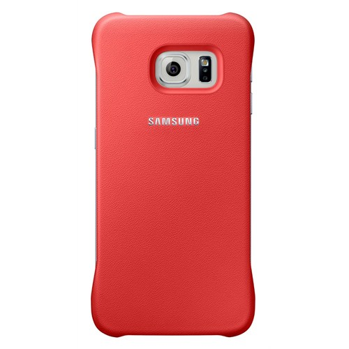 Samsung Galaxy S6 Edge Protective Cover Arka Kapak Kırmızı - EF-YG925BPEGWW