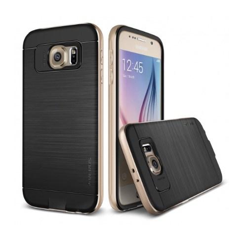 VERUS Samsung Galaxy S6 Kılıf Verus Iron Shield Gold