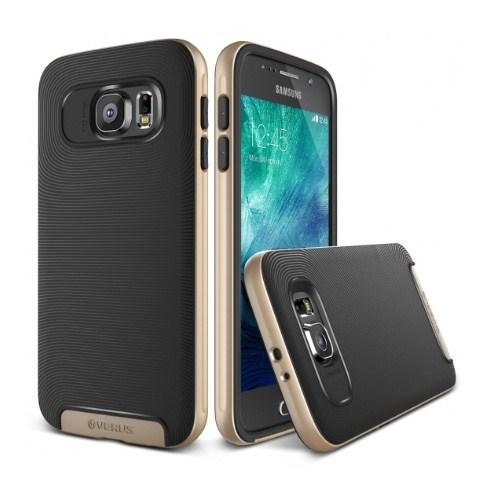 VERUS Samsung Galaxy S6 Kılıf Verus Crucial Bumper Shine Gold