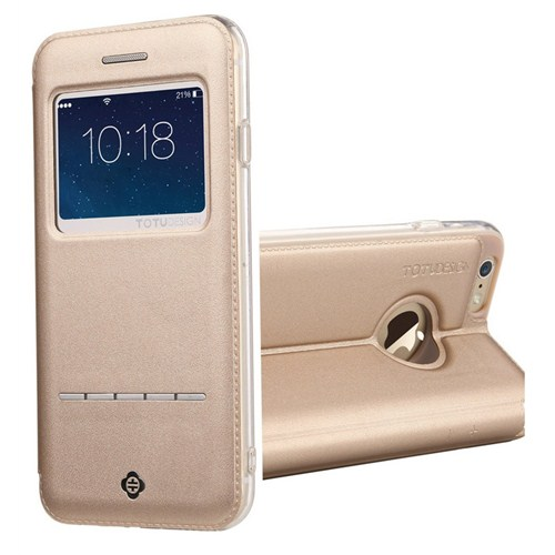 TotuDesign Apple iPhone 6 Plus Kılıf Totu Design Touch Altın