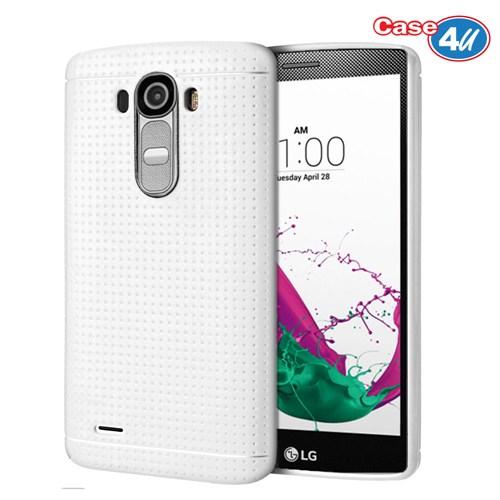 Case 4U LG G4 Dot Style Silikon Kılıf Beyaz