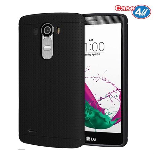 Case 4U LG G4 Dot Style Silikon Kılıf Siyah*
