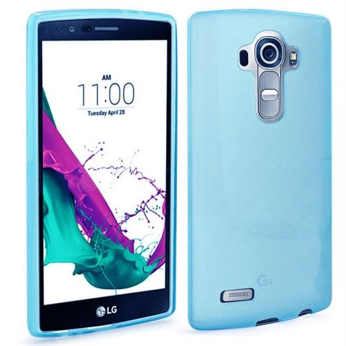 Case 4U LG G4 Ultra İnce Silikon Kılıf Mavi