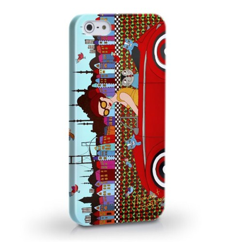 Biggdesign Arabalı Kız Apple iPhone 5/5S Kapak