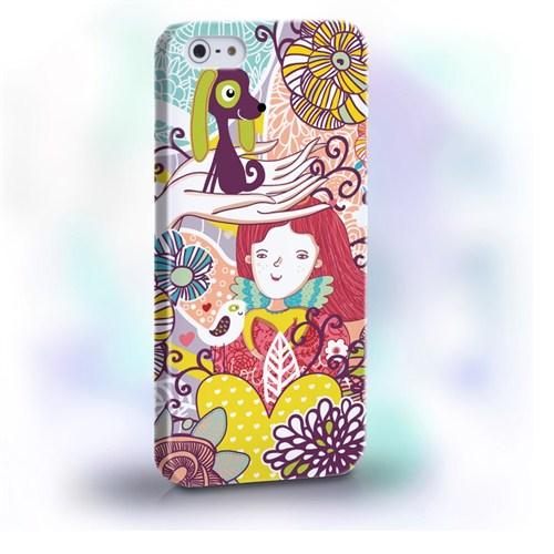Biggdesign Çiçek Kız I Phone 5/5S Kapak