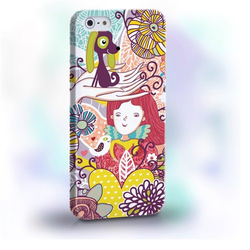 Biggdesign Çiçek Kız I Phone 4/4S Kapak