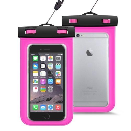 Microsonic iPhone 6 Su Geçirmez Kılıf Pembe - CS100-WTRPRF-PMB