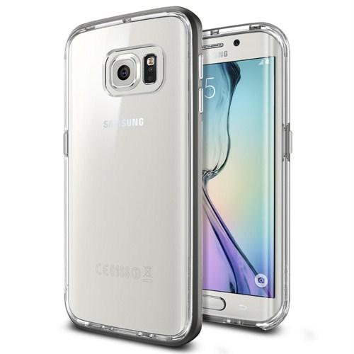Spigen Samsung Galaxy S6 Edge Kılıf Neo Hybrid CC Gun Metal - 11528