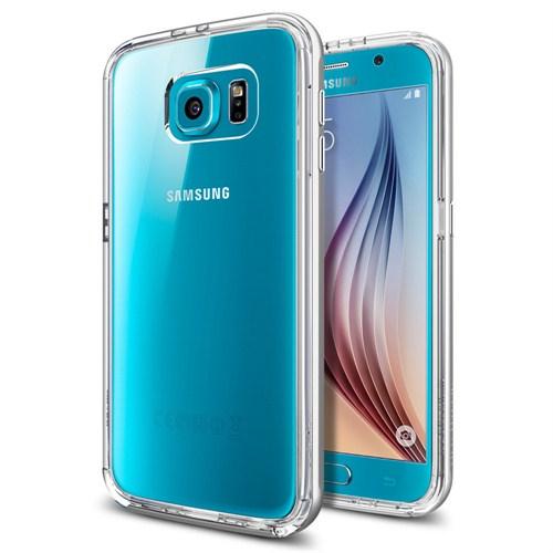 Spigen Samsung Galaxy S6 Edge Kılıf Neo Hybrid CC Satin Silver - 11525