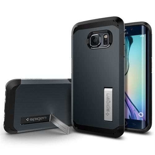 Spigen Sgp Samsung Galaxy S6 Edge Kılıf Tough Armor (Darbelere Karşı Tam Koruma) Metal Slate - SGP11429