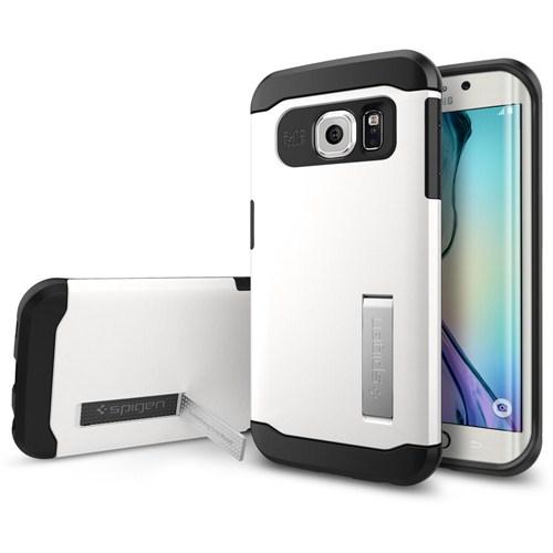 Spigen Sgp Samsung Galaxy S6 Edge Kılıf Slim Armor Shimmery White - SGP11424