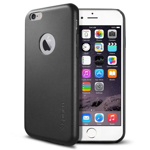 Spigen Sgp Apple iPhone 6 Kılıf Leather Fit Serisi Gerçek Deri Black - SGP11354